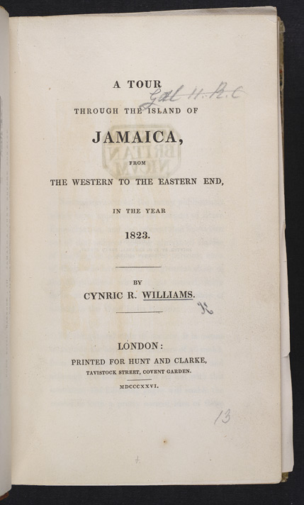 A Tour Through Jamaica In 1823 -Title page